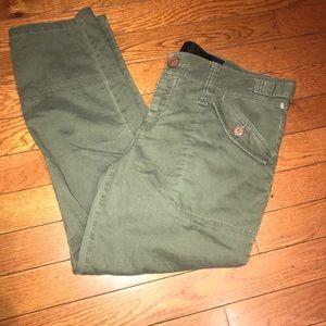 Joe's Jeans cropped olive pants